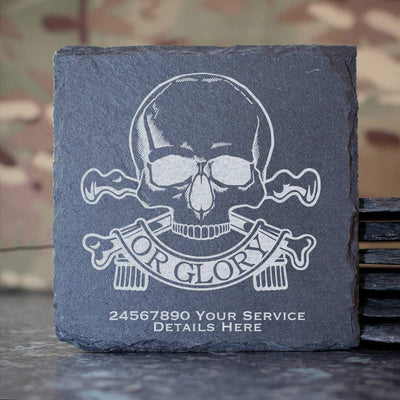 Queens Royal Lancers Slate Coaster