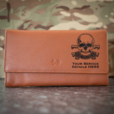Queens Royal Lancers Leather Purse