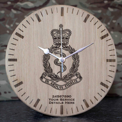Royal Army Medical Corps Oak Clock