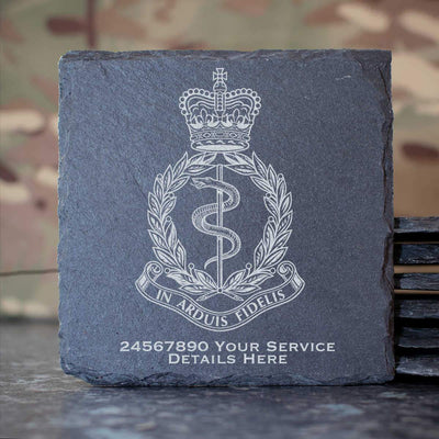 Royal Army Medical Corps Slate Coaster