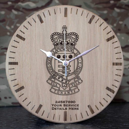 Royal Army Ordnance Corps Oak Clock
