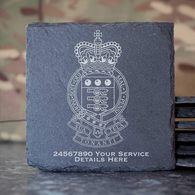 Royal Army Ordnance Corps Slate Coaster