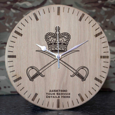 Royal Army Physical Training Corps Oak Clock