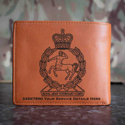Royal Army Veterinary Corps Leather Wallet