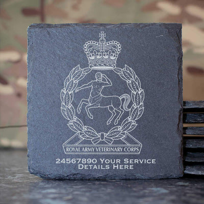 Royal Army Veterinary Corps Slate Coaster