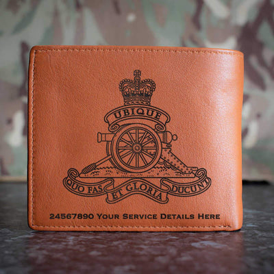 Royal Artillery Leather Wallet