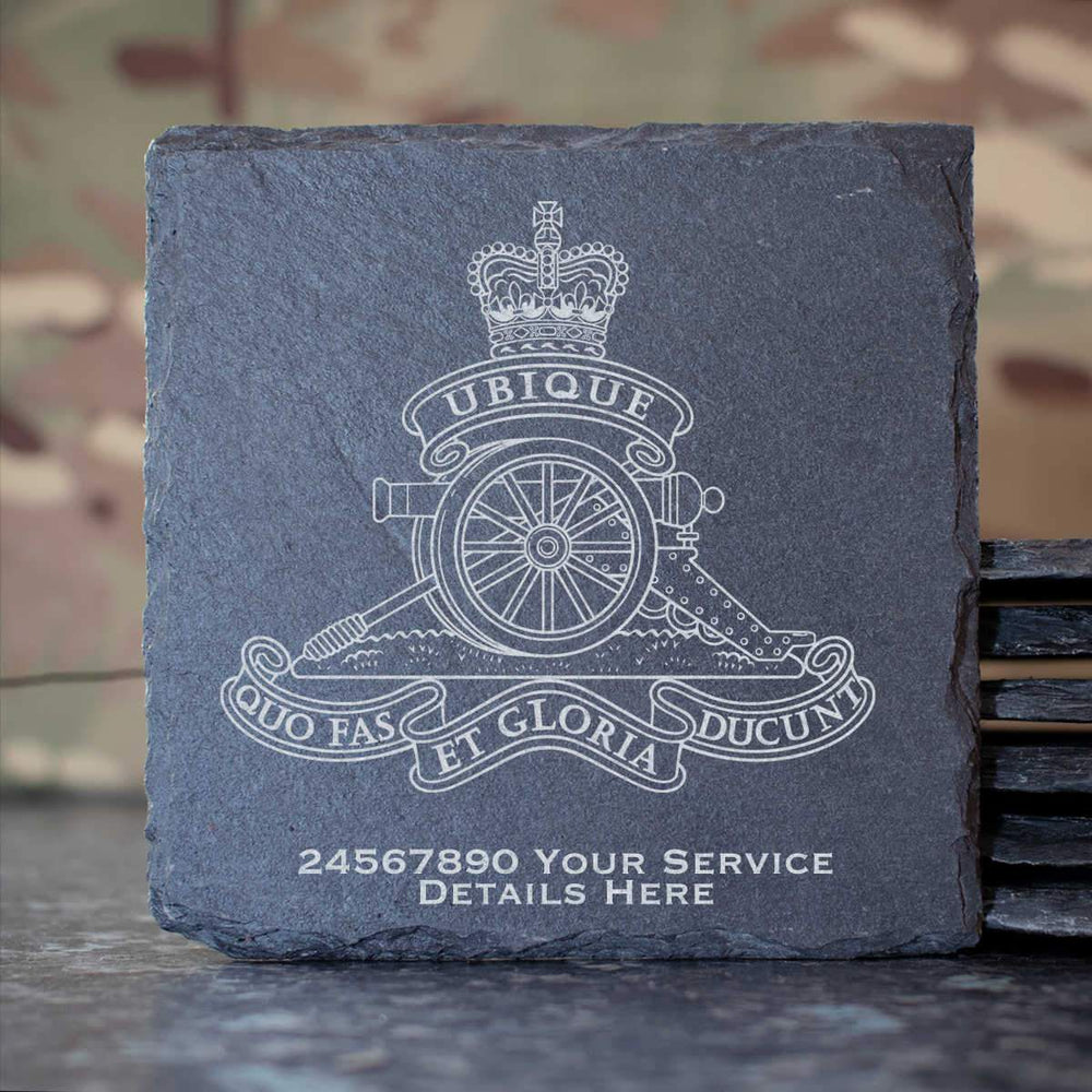 Royal Artillery Slate Coaster
