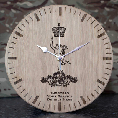 Royal Corps of Signals Oak Clock
