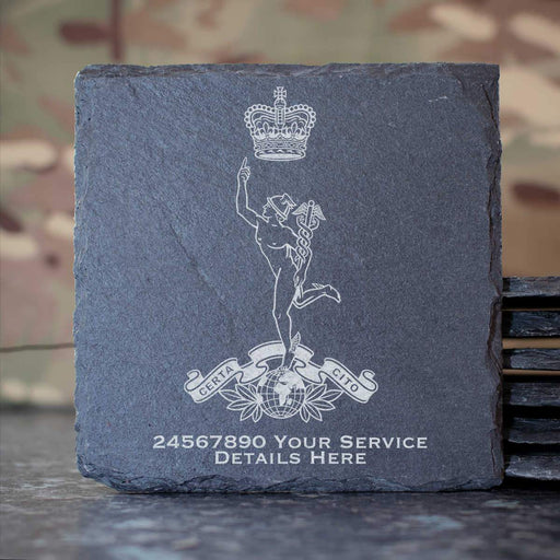 Royal Corps of Signals Slate Coaster