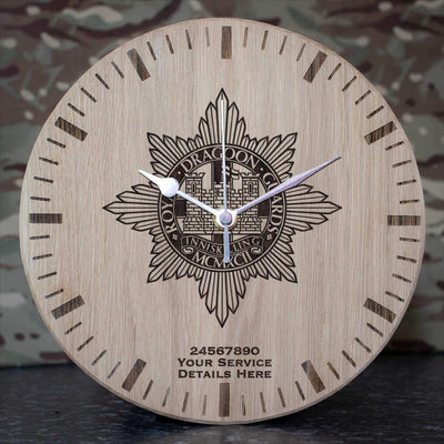 Royal Dragoon Guards Oak Clock