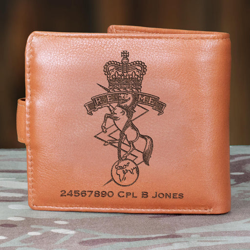 Royal Electrical and Mechanical Engineers Personalised Leather Wallet (060)