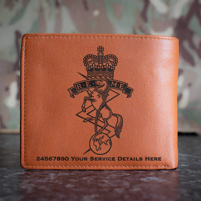 Royal Electrical and Mechanical Engineers Leather Wallet