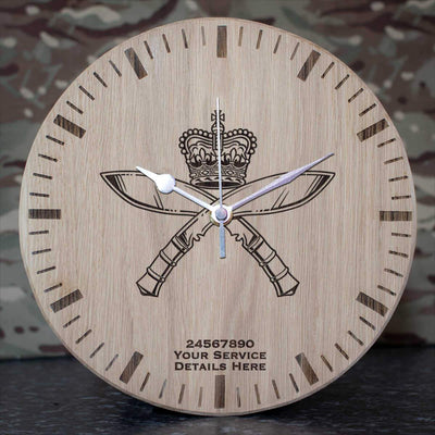 Royal Gurkha Rifles Oak Clock