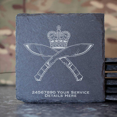 Royal Gurkha Rifles Slate Coaster