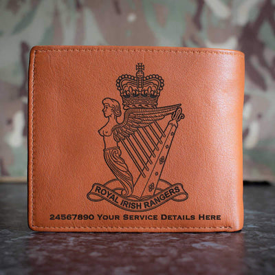 Royal Irish Rangers Leather Wallet