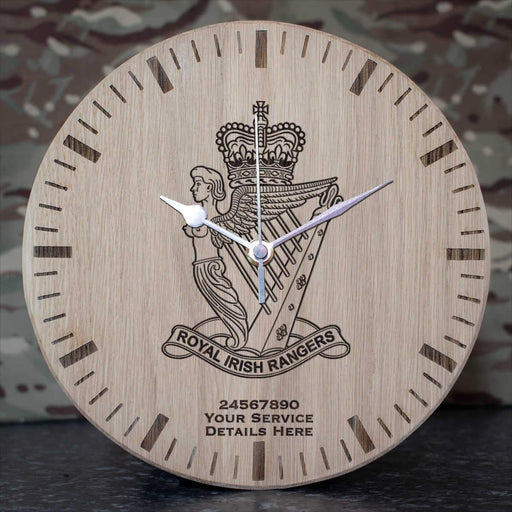 Royal Irish Rangers Oak Clock