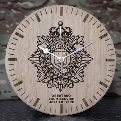 Royal Logistic Corps Oak Clock