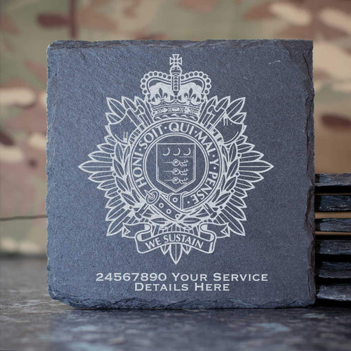 Royal Logistic Corps Slate Coaster