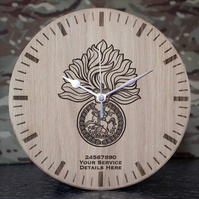Royal Regiment of Fusiliers Oak Clock
