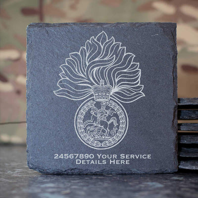 Royal Regiment of Fusiliers Slate Coaster