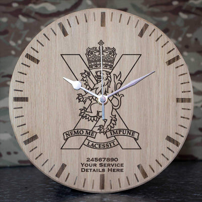 Royal Regiment of Scotland Oak Clock