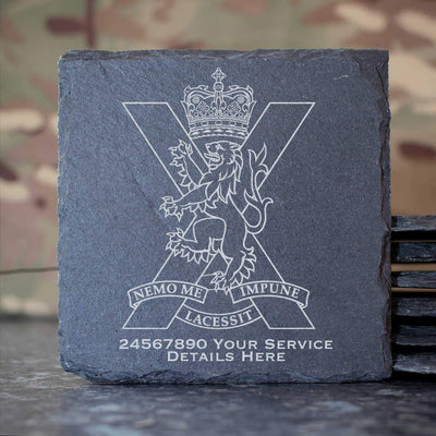 Royal Regiment of Scotland Slate Coaster