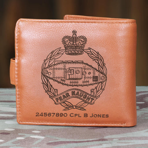 Royal Tank Regiment Personalised Leather Wallet (079)
