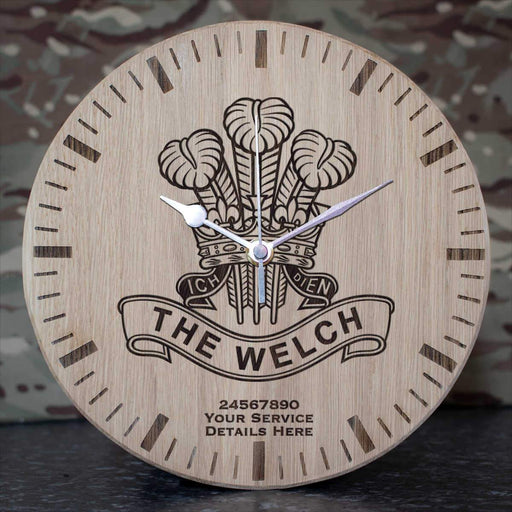 Royal Welch Oak Clock