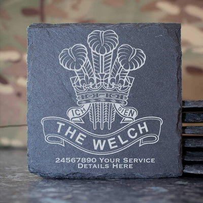 Royal Welch Slate Coaster