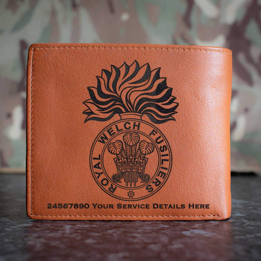 Royal Welch Fusiliers Leather Wallet