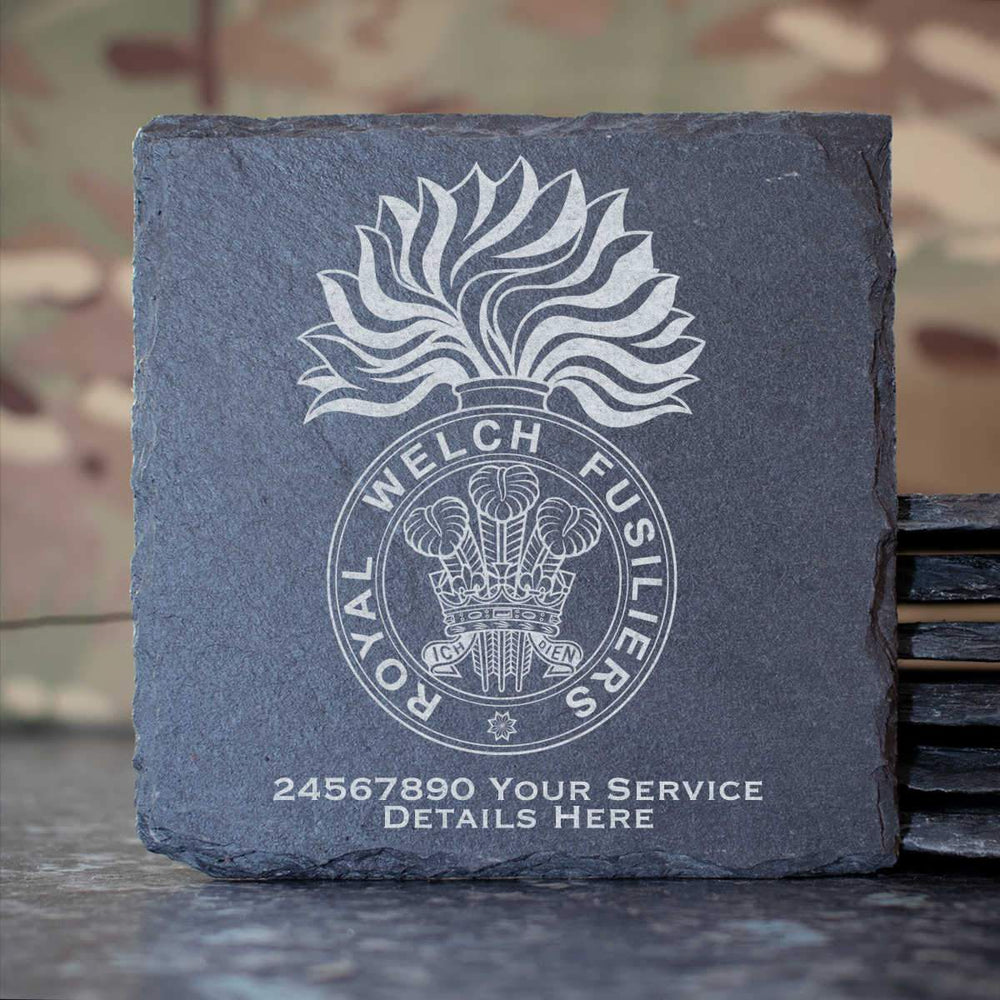 Royal Welch Fusiliers Slate Coaster