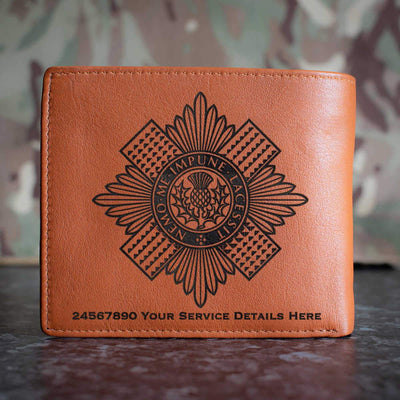 Scots Guards Leather Wallet