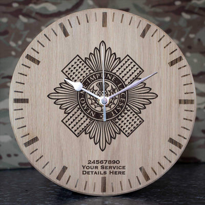 Scots Guards Oak Clock