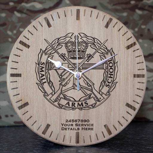 Small Arms School Oak Clock