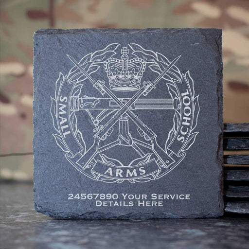 Small Arms School Slate Coaster