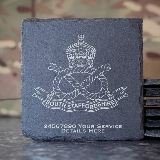 South Staffordshire Regiment Slate Coaster
