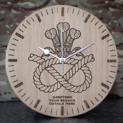 Staffordshire Regiment (POW) Oak Clock