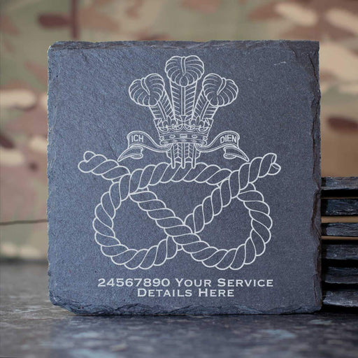 Staffordshire Regiment (POW) Slate Coaster