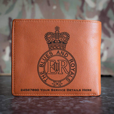 Blues and Royals Leather Wallet