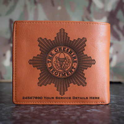 Cheshire Regiment Leather Wallet