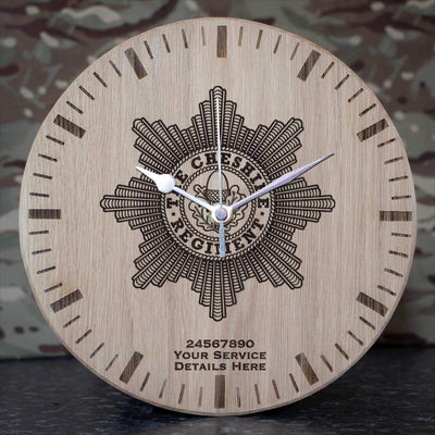 Cheshire Regiment Oak Clock