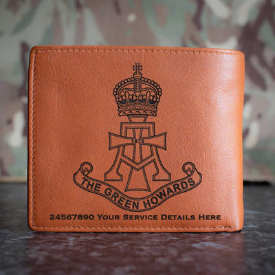 Green Howards Leather Wallet