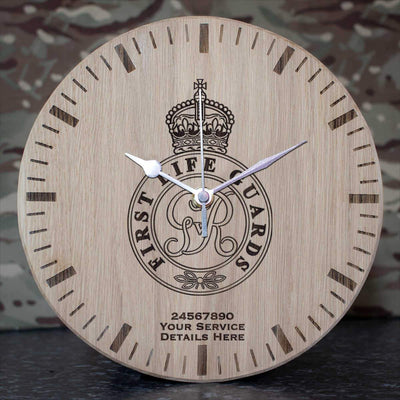 1st Life Guards Oak Clock