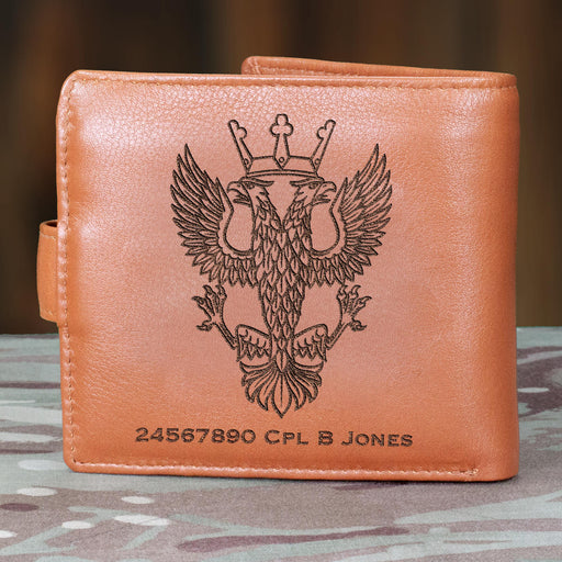 Mercian Regiment Leather Card Holder Wallet (100)-Military Covers
