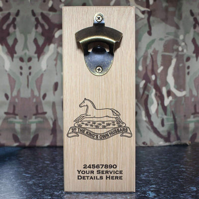 3rd Kings Own Hussars Wall-Mounted Bottle Opener