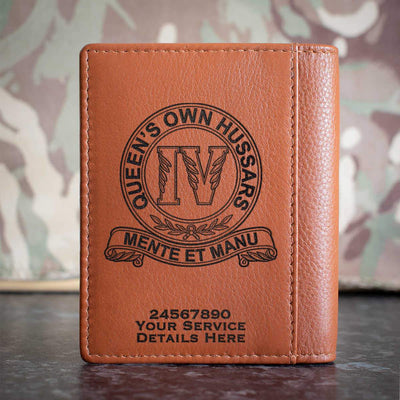 4th Queens Own Hussars Credit Card Wallet