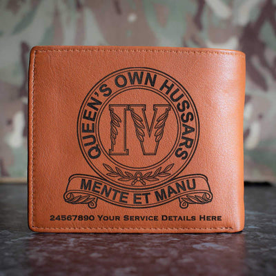 4th Queens Own Hussars Leather Wallet