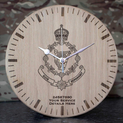4th Royal Irish Dragoon Guards Cypher Oak Clock