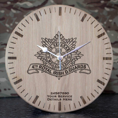 4th Royal Irish Dragoon Guards Oak Clock