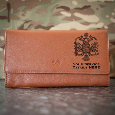Queens Dragoon Guards Leather Purse